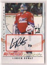 Buy 2007-08 Between The Pipes Autographs #ALR Linden Rowat