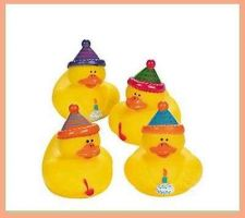 Buy 4 Happy Birthday Rubber Ducks/Duckies~Favors~ Cake Topper~Gift
