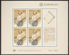 Buy Portugal EUROPA 1985 mnh SS 1627a