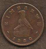 Buy Old Zimbabwe Coin - 1980 1 Cent - Circulated