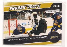 Buy 2011-12 SCORE SUDDEN DEATH #21 COREY PERRY