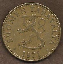 Buy Finland 50 Pennia 1971 Rampant Lion Shield Scandinavian Coin - Great Coin!