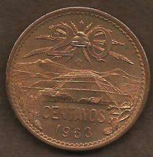 Buy Mexico 20 Centavos 1963 Bronze Coin 2