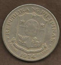 Buy Phillipines 1 Piso 1974 Jose Rizal Large Scarcer Coin!