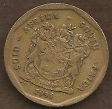 Buy South Africa 50 Cent 1991 Coin