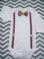 Buy Baby Boy BowTie and Suspenders Bodysuit. BowTie Suspenders look is in.