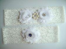 Buy Wedding Garter, Bridal Garter Set - White Lace Garter, Keepsake Garter,