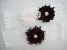 Buy wedding bridal garter set - white lace garter,keepsake garter,toss garter,