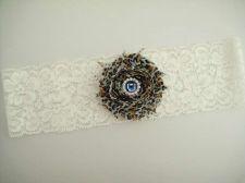 Buy Gorgeous wedding garter toss Garter or keepsake garters. It is handmade