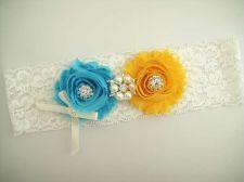 Buy wedding bridal garter - white lace garter,keepsake garter,toss garter,