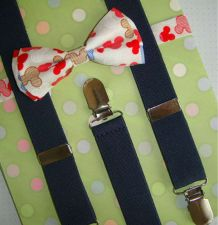 Buy baby suspenders and bow tie,girls suspenders,gift suspendrs,wedding suspenders.