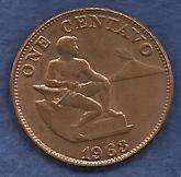 Buy Phillipines 1 Centavo 1963 Coin