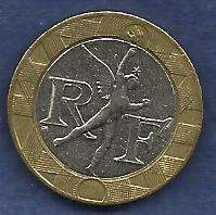 Buy France 10 Francs 1991 Bi-metal Spirit of Bastille Coin