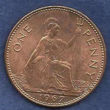 Buy GREAT BRITAIN 1 Penny 1967 Coin 2