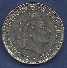 Buy Netherland 2 1/2 Gulden 1972 Pre-Euro Coin Queen Juliana