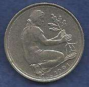 Buy West Germany 50 Pfennig 1991 A Coin - Great Coin!