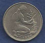 Buy West Germany 50 Pfennig 1980 F Coin - Nice Coin!