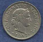 Buy SWITZERLAND 5 RAPPEN 1947 Post WWII World Coin