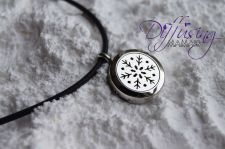 Buy Snowflake Diffusing Mama's Brand Essential Oils Aromatherapy Locket Necklace