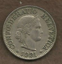 Buy Switzerland 10 Rappen 1921 Libertas Goddess of Liberty Coin