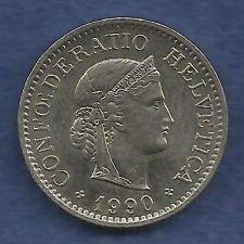 Buy Switzerland 10 Rappen 1990 Libertas Goddess of Liberty Coin Excellent Detail!