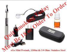 Buy eGo - MiniProtank, 1300mAh 2.4 Ohm: Stainless Steel