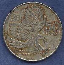 Buy PHILIPPINES Republic 50 Sentimos 1990 Monkey Eating Eagle
