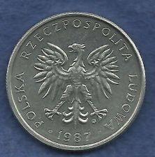 Buy Poland 50 Groszy 1987 Coin with Eagle! Nice Coin!