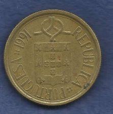 Buy Portugal 5 Escudos 1991 Shield Republic