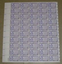 Buy US, Scott# 1014, three cent Gutenberg Bible sheet of 50 stamps