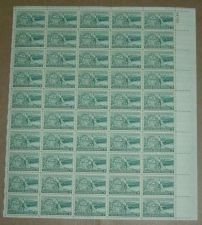 Buy US, Scott# 1019, three cent Washington Territory sheet of 50 stamps