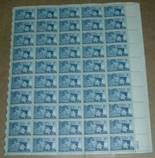Buy US, Scott# 938, three cent Texas Statehood sheet of 50 stamps
