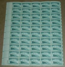 Buy US, Scott# 939, three cent Merchant Marine sheet of 50 stamps