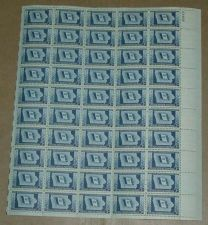 Buy US, Scott# 942, three cent Iowa Statehood sheet of 50 stamps