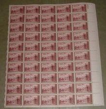 Buy US, Scott# 944, three cent Santa Fe, Kearny Exped. sheet of 50 stamps