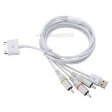 Buy Apple USB AV TV RCA Audio Video Composite Cable For iPhone 4 4S iPad iPod