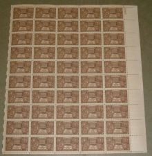 Buy US, Scott# 972, three cent Indian Centennial sheet of 50 stamps