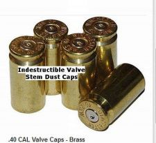 "Buy 5 - INDESTRUCTIBLE - BRASS ""SELF-ADJUSTING"" VALVE STEM CAPS TPMS COMPATIBLE"