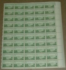 Buy US, Scott# 990, three cent Executive Mansion sheet of 50 stamps