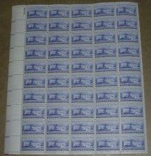 Buy US, Scott# 991, three cent Supreme Court sheet of 50 stamps