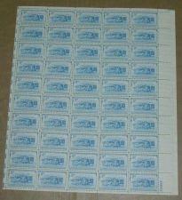 Buy US, Scott# 1006, three cent B & O Railroad sheet of 50 stamps