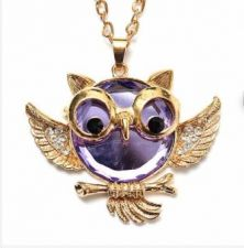 Buy fashion owl angle necklace