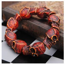 Buy red skull elastic braclet