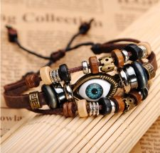 Buy eyeball genuine leather bracelet