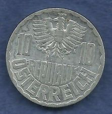 Buy Austria 10 Groshen 1957 Coin with Eagle!
