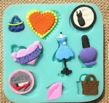 Buy dress cake silicone mould