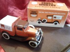 Buy Ertl 1929 Ford Model A Pickup Truck Die Cast Metal Locking Coin Bank w/Key &Box!