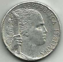Buy 1950 Italy 5 Lire Coin