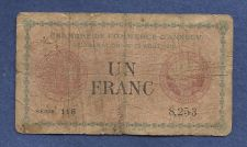 Buy France 1 Franc 1920 Banknote 8253 Chamber De Commerce D'Annecy