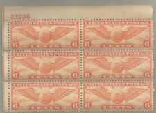 Buy United States Scott Stamp #C19, Plate block of 6, from 1934